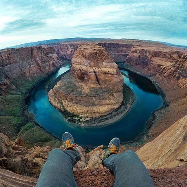 @travisburkephotography atop Horseshoe Bend, Arizona.