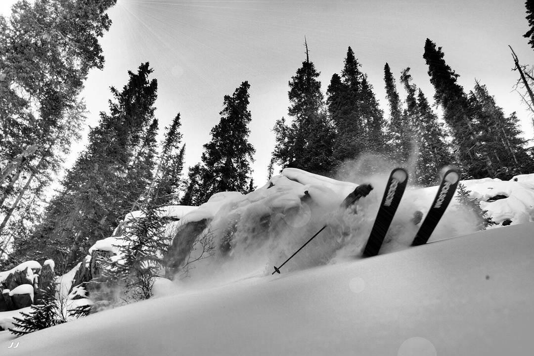 Finding new stashes in the Summit County backcountry with @barmski photo cred : @balls_deepinpow #primaryshape #customskis #skiuphill #powder #colorado #explore #earnyourturns