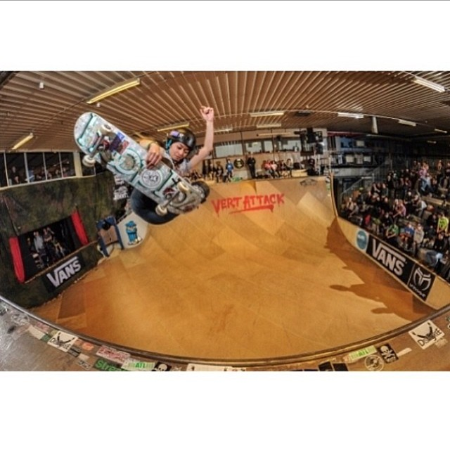 Go to www.longboardgirlscrew.com and check out this week's top 5 videos by @sukizima featuring @allyshabergado (in the pic) killing it during the Vert Attack in Sweden. @kateslynne, @femkebosma, @martebosma & more rad girls also featured. Girls are...