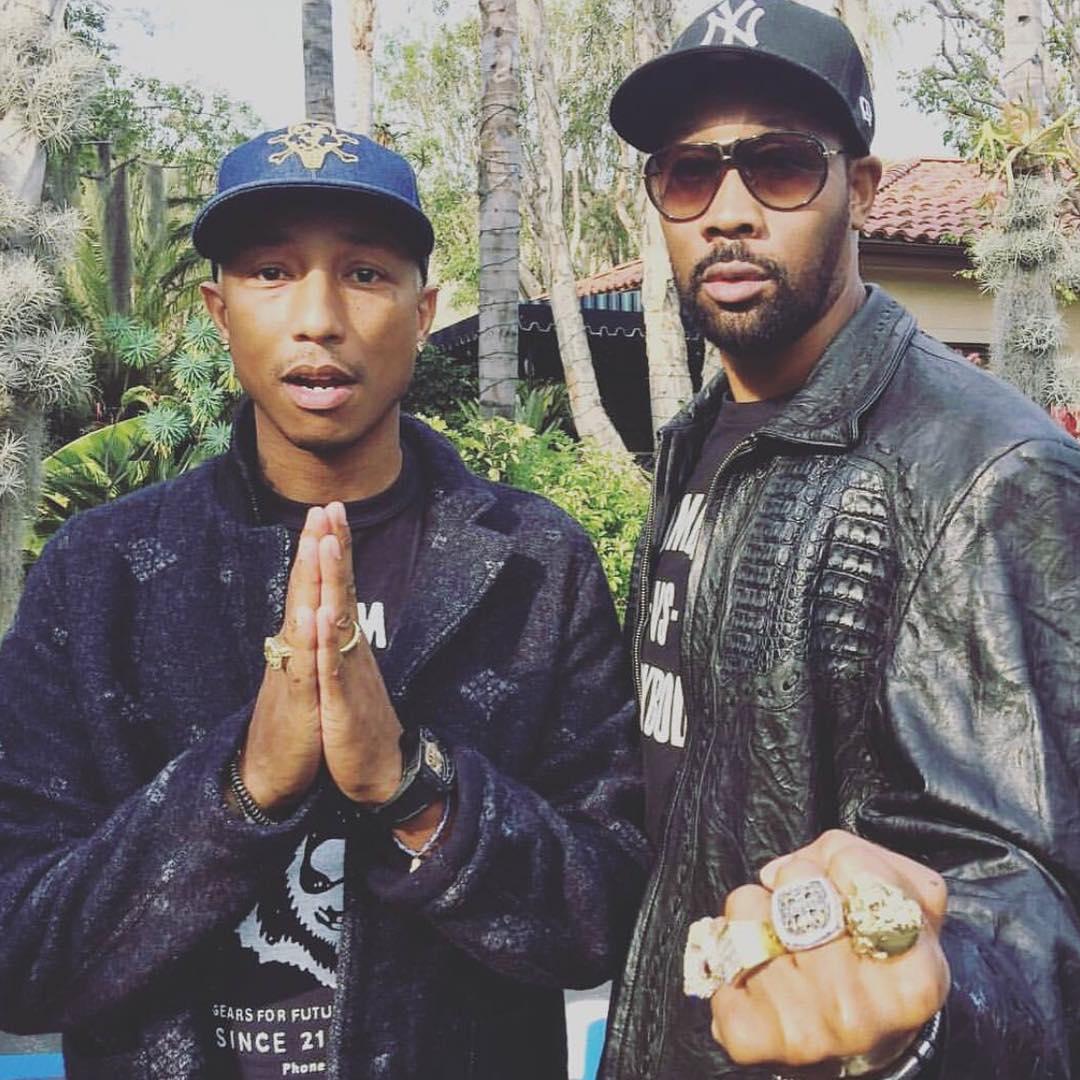 Skateboard P and Bobby Digital.  #RZA #Pharrell #SoundOfTheBrave