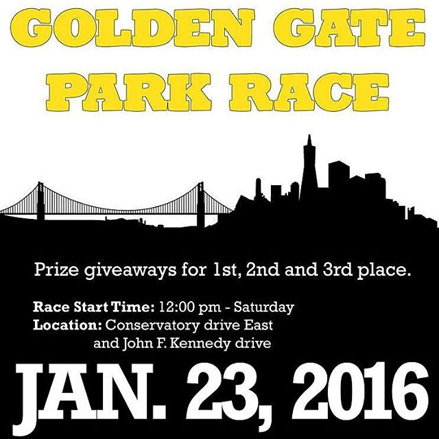 Tomorrow is the Golden Gate Park race!!! See you soon!!