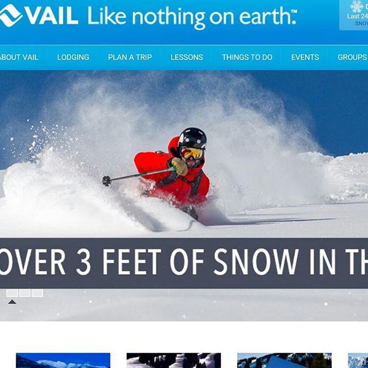 Team shredder S. Delaney on @vailmtn homepage nice shot @benkoelkerphoto #skiingmag #showusyourpowface #unitedinorange