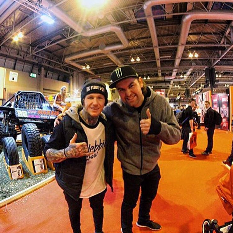 Great to see @thewebbieshow at AutoSport last week, he slays it on a bmx and isn't bad at pedalling a car either