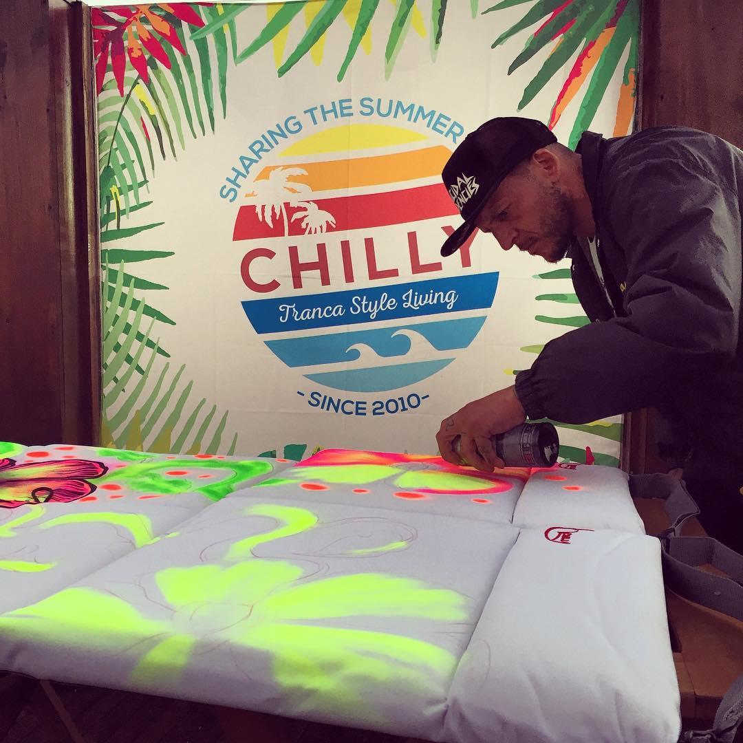 MDQ Surf Film Festival  @mvarbaro haciendo arte... #trancastyleliving