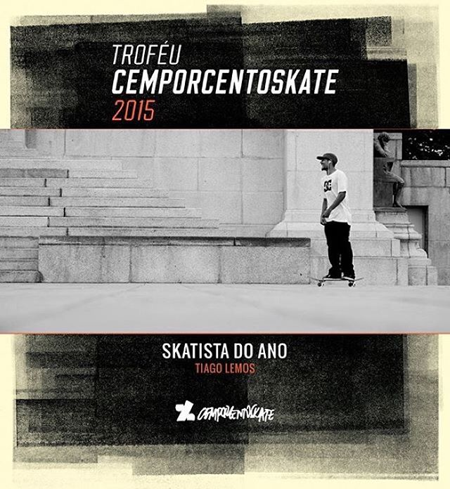 Congrats to @tiagolemoskt on being named @cemporcentoskate's 2015 Brazilian Skater of the Year!! #TiagoLemos #DCShoes