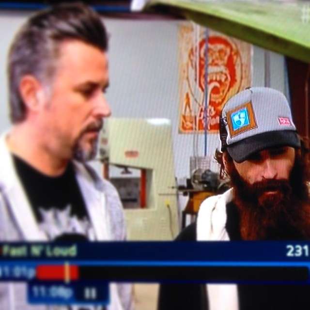 #FASTNLOUD | @gasmonkeygarage Aaron rocking a @hi5sfoundation | @bigtruckbrand collab-hat, way better than being on Roger of #snookiNJWOWW