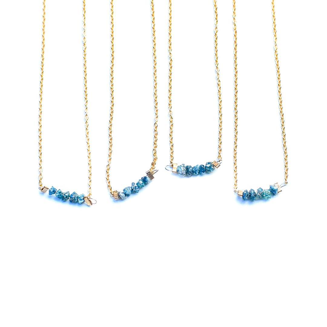 Blue Rough Diamonds. Why not on a Saturday.  #sparkly #classy #ss16 #saturday #juliaszendrei