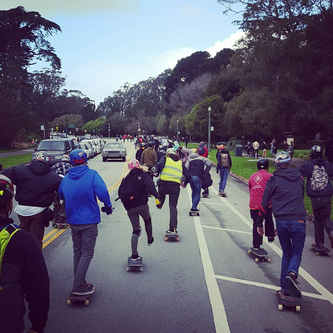 Today was amazing!  We stormed through Golden Gate Park with an army!  Thank you to everyone who came out!  #goldengateparkrace #sanfrancisco #sunsetsliders #bonzing