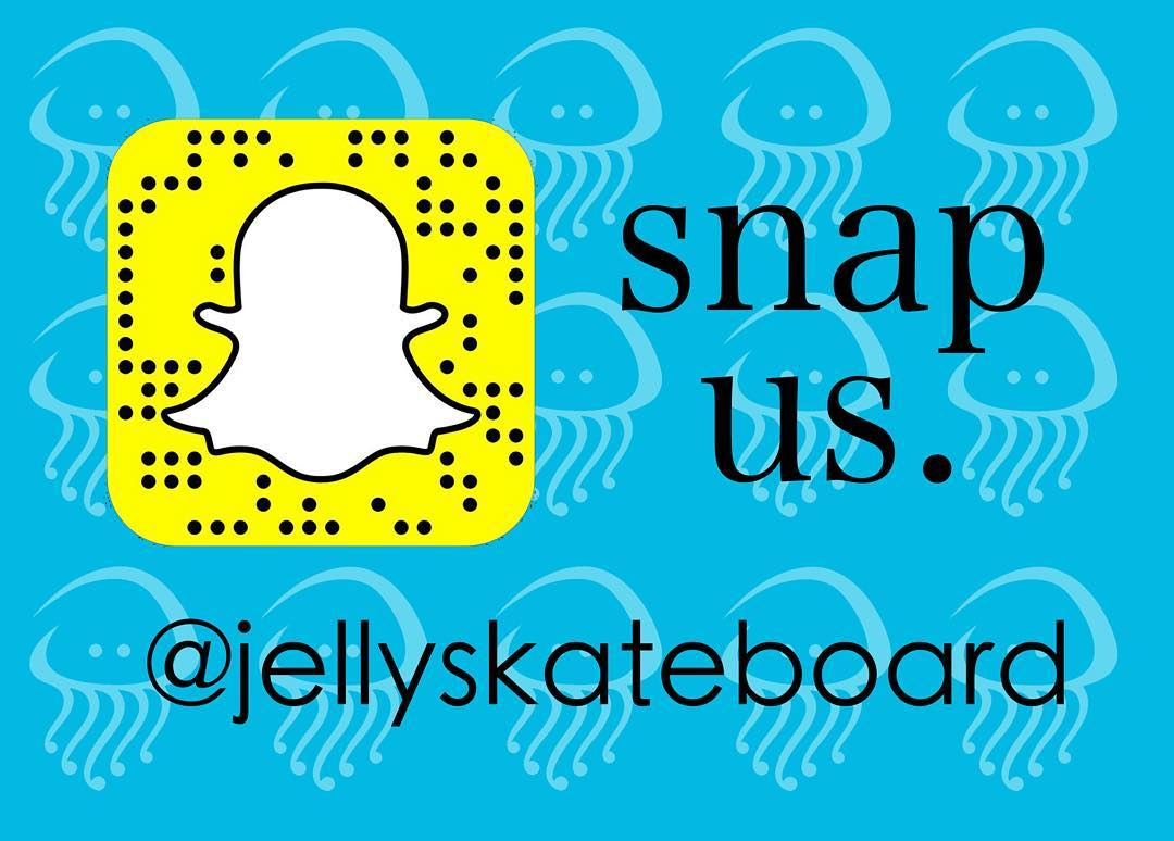 Follow us on #snapchat ! >>@jellyskateboard<< #jellyskateboards #followus