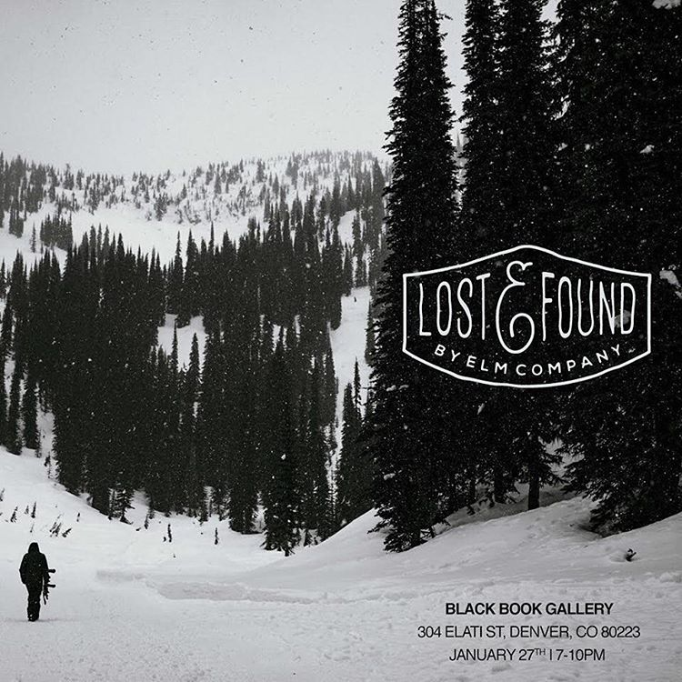 Get Lost & Found with the @elmcompany tonight in Denver. Featuring photography from @timpeare @shaun_daley @pascalshirley @bengavelda @sully_land @mikeyoshida @hugruber @hauc @andrew_miller and @frodesandbech Holy moly!  #rootedinlife #elmcompany...