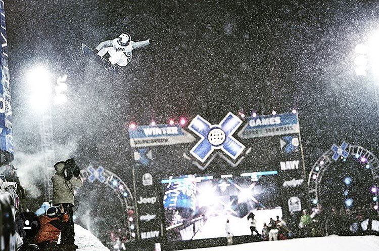 """Kelly Clark (@thekellyclark) has a superhero style that is spotlighted here under pressure, fighting against the elements.  It's the finals of the X Games, and I moved down the pipe to show the atmosphere she was flying through.  With a long lens I..."