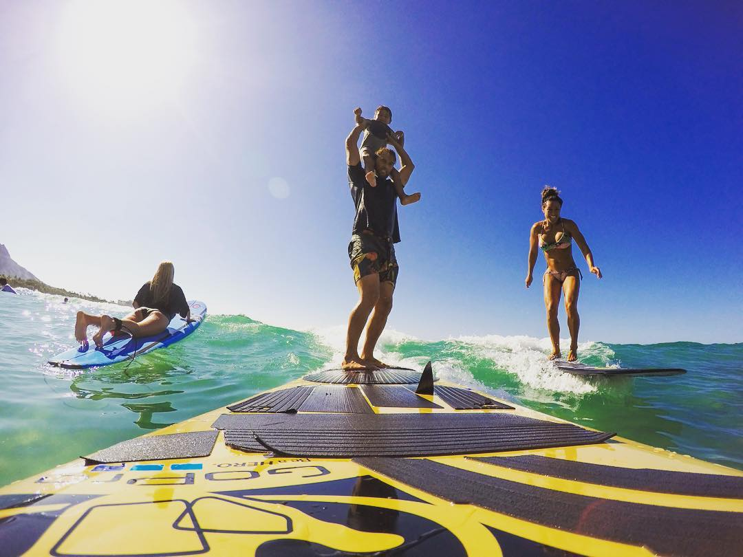 Family surf with the Walsh's @anthony_walsh_ @crystal.walsh  #allthingswater #bodyglove www.bodyglove.com