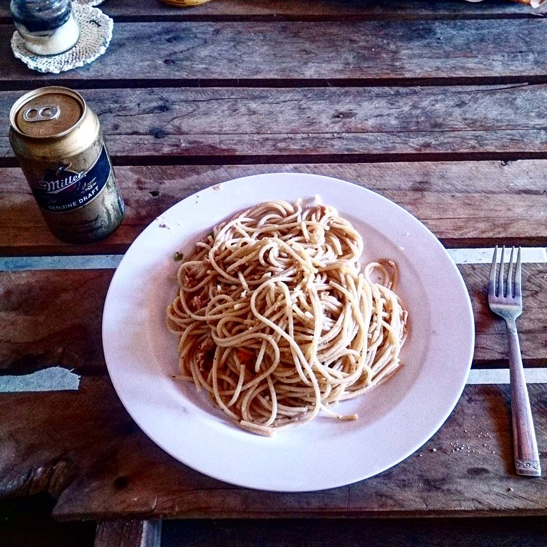 #dayoff #lunch #spaghetti #itsmillertime #SantaClara #Cocle #Panama