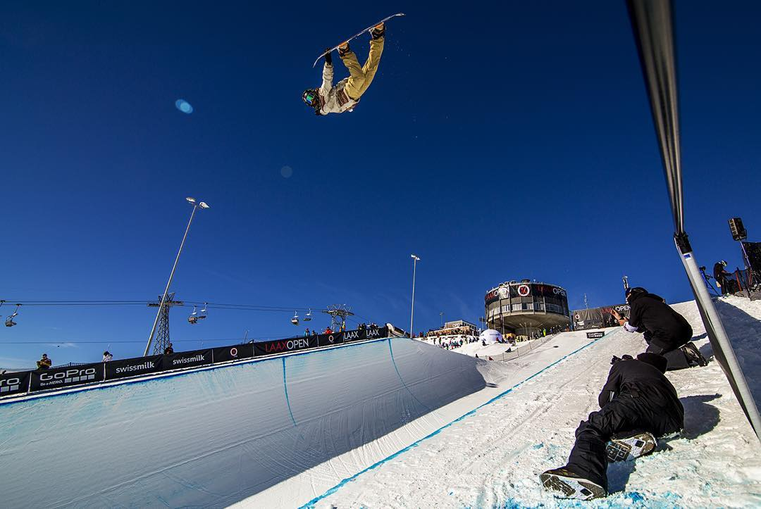 @travelindan fine tunes his pipe run last week at the #laxxopen in preparation for @xgames this week in Aspen, CO