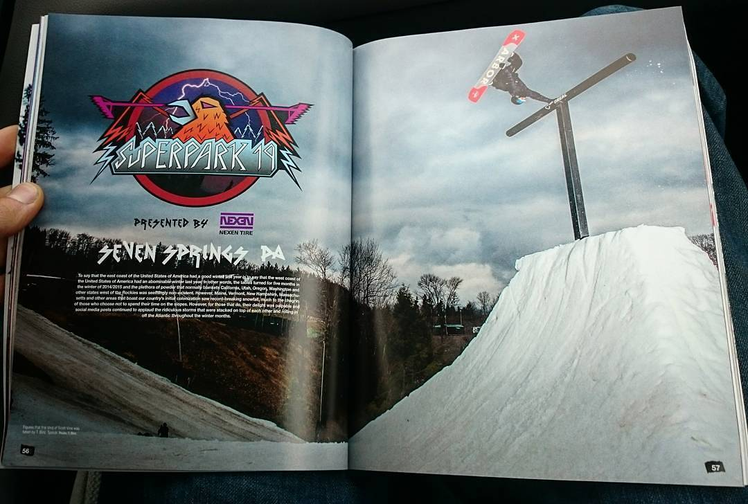Congratulations to our team rider @ScottyVine on this opening spread in the #Superpark19 article in @SnowboarderMag's #Superpark issue.