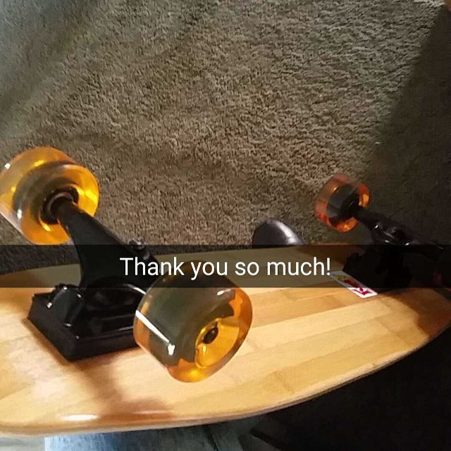 No #thankyou #thanks #skate #skateboarding #bamboo #cruiser #snapchat #business #concretewave #gogreen #entrepreneur #startup #starbucks