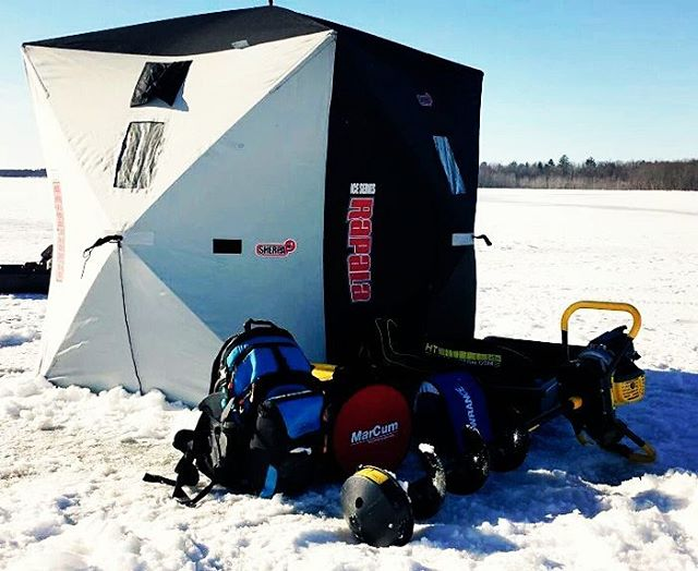 Thanks Tom Konopacki for this sweet shot of our Cascade backpack and cooler ice fishing in Canada! #lunkerhunters #icefishing #getoutside #Canada #backpacks #coolers #graniterocx