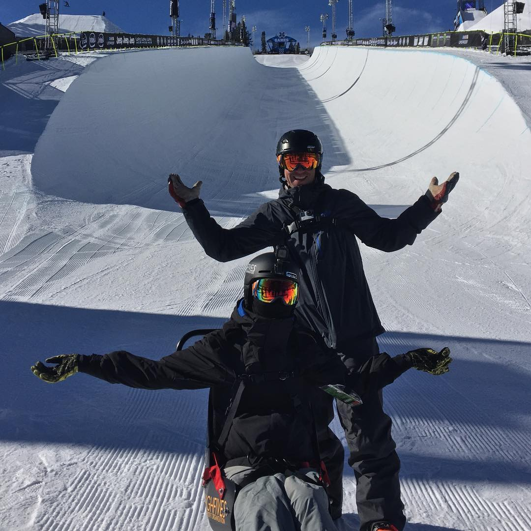 First quadriplegic to ever heliski #HighFivesAthlete @tonyschmee has arrived at #XGames Aspen! More to come, get pumped.