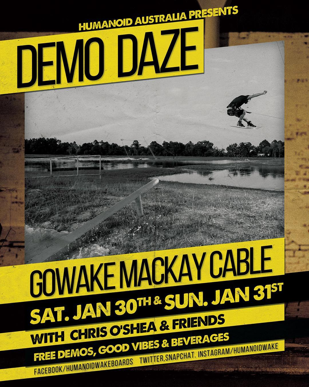 Oi Aussies! Get out to @gowakemackay this weekend and demo some gear! Hit up @livesimple and @mitchlangfield for more details #wakeboarding