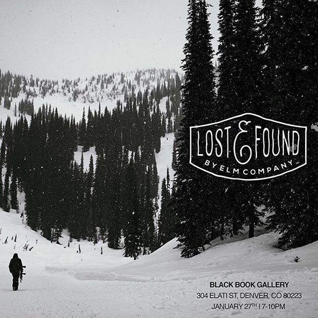 Come kick off the #SIA week with us and a bunch of other badass people and photographers. Tonight, 7-10 @blackbookgallery in #Denver . #LostAndFound  #Photography show generously curated by @elmcompany and proud to be a supporting sponsor. | Free beers...