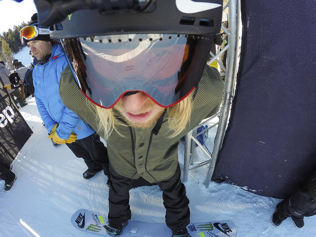"""""""This course is psycho!"""" @sagekotsenburg scoping out the goods at #XGames #GoPro"""