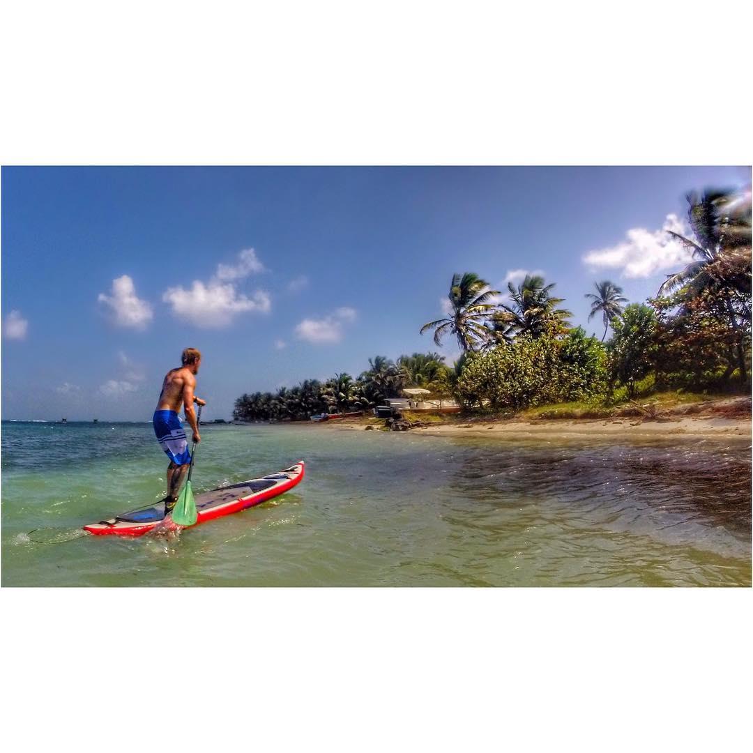 @agarhart exploring Big Corn Island by #paddleboard.