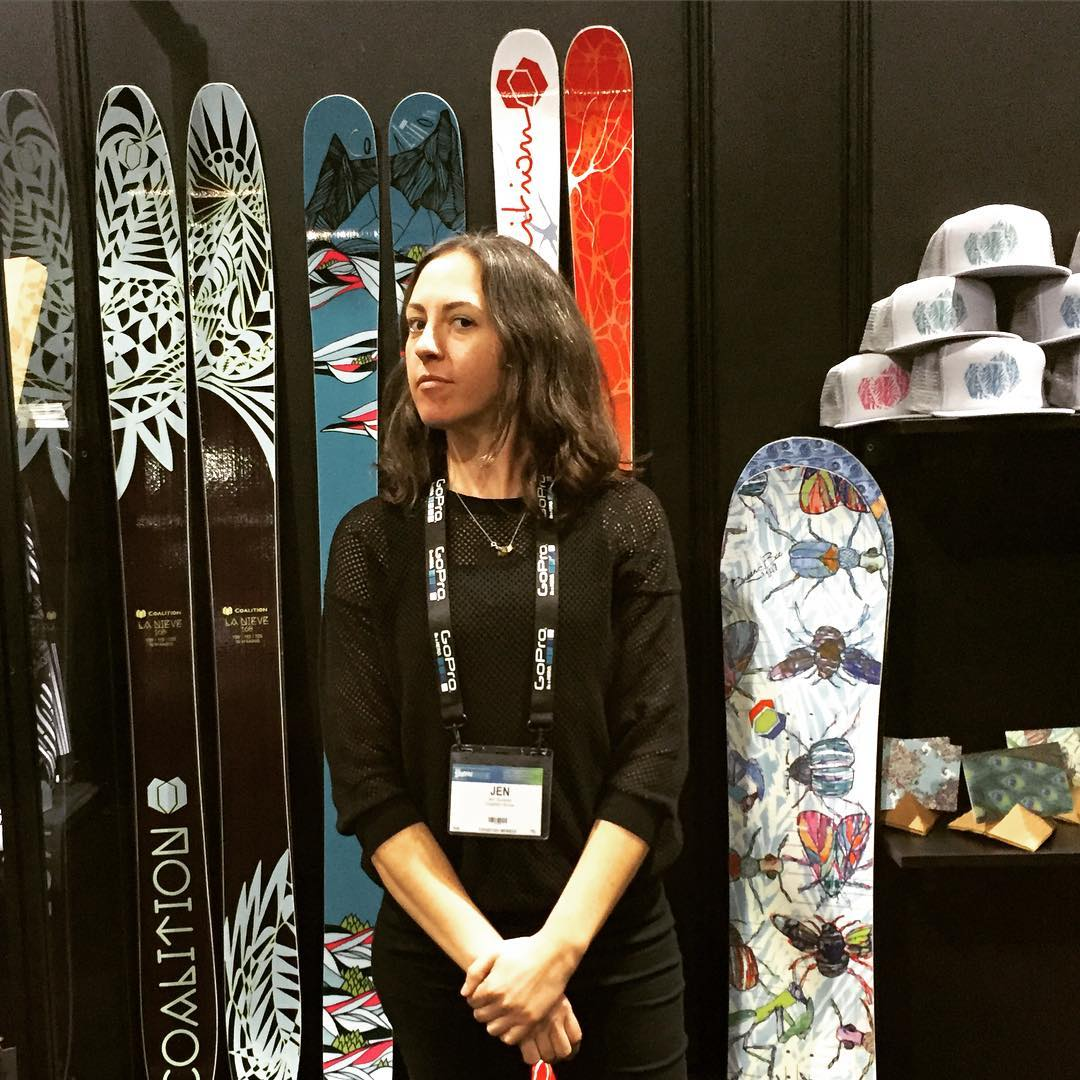 We're serious about women's #skis and #snowboards that don't suck. #SIA16 #sisterhoodofshred