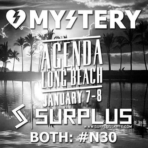 Who's coming to @agendashow ? Make sure to hit up our booth N30 and check out all the new goods for 2016. #mystery4life