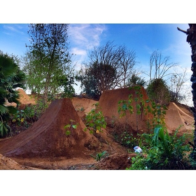 @salsaavedra and the boys have been diggin again! #bluebench #bult #bmxdirt #slightleft #whipit