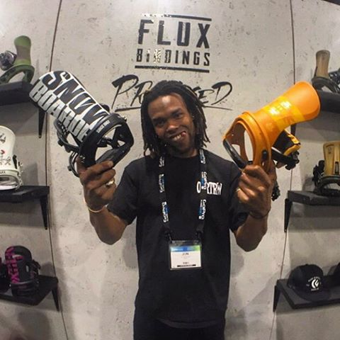 @shr3dmambaaaa aka Mamba aka Jonathon McDonald stopped by the Flux Bindings booth at #sia16 for a sneak peek at the 2016/17 line of bindings. He's pretty hyped on the new R2 Mustard and TEAM @snowboardermag collaboration. Check back for more peeks
