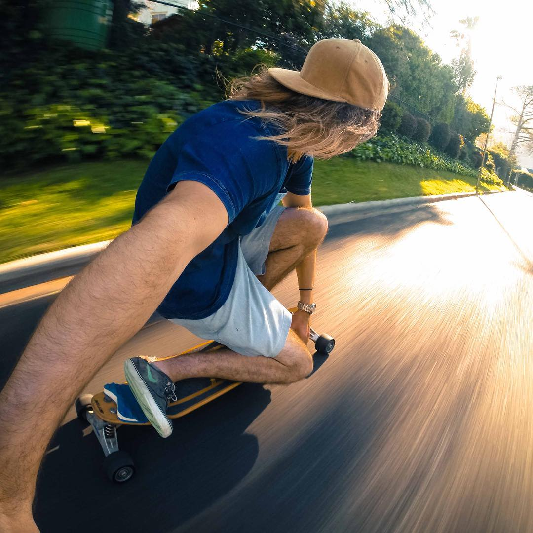 GoPro Featured Photographer - @chrisrogersza  About the Shot: Drop knee cruising - I find cruising on a #skateboard such a nice way to get out and get some fresh air and clear the mind, I would often go cruising in my neighborhood in the afternoon...