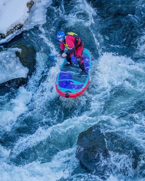 Team rider @suppaul_pics charging some winter whitewater! #halagear #whitewaterdesigned #adventuredesigned #isup #standuppaddle #paddleboard #sup #whitewater #coldwatersup #whiterwatersup
