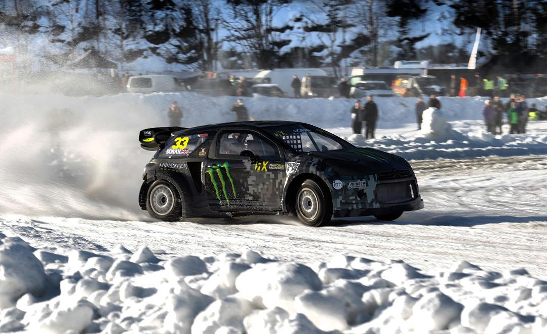 Awesome day driving my DS3 RX SuperCar on the Frozen Lake for @gatebil_official in Norway!! Literally never had so much fun!!!