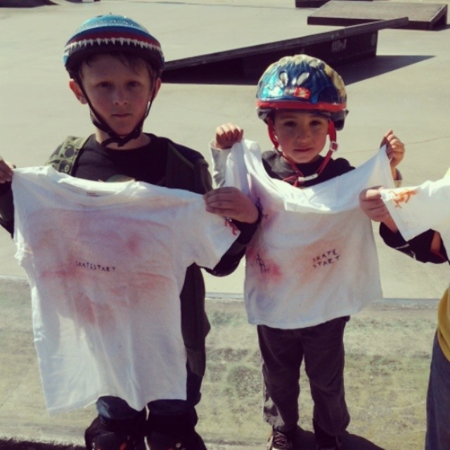 We made shirts at #skatecamp today. #fun #gettingcreative #springbreak