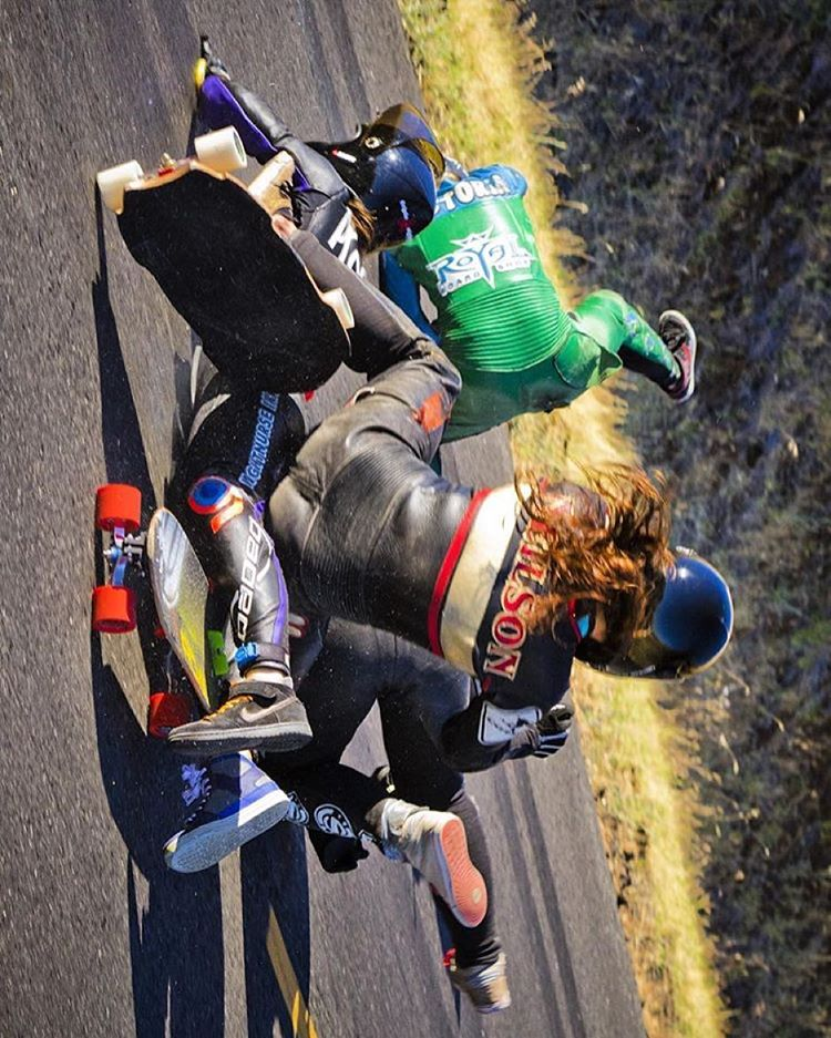 Sometimes it's racing, sometimes it's breakdancing.  Repost from @skateslate. Maryhill's Festival of Speed 2014 Women's Semi-finals. Ouch.  @honjuey photo.  #longboardgirlscrew #womensupportingwomen #skateslate #maryhillfestivalofspeed #mfos2014 #crash...