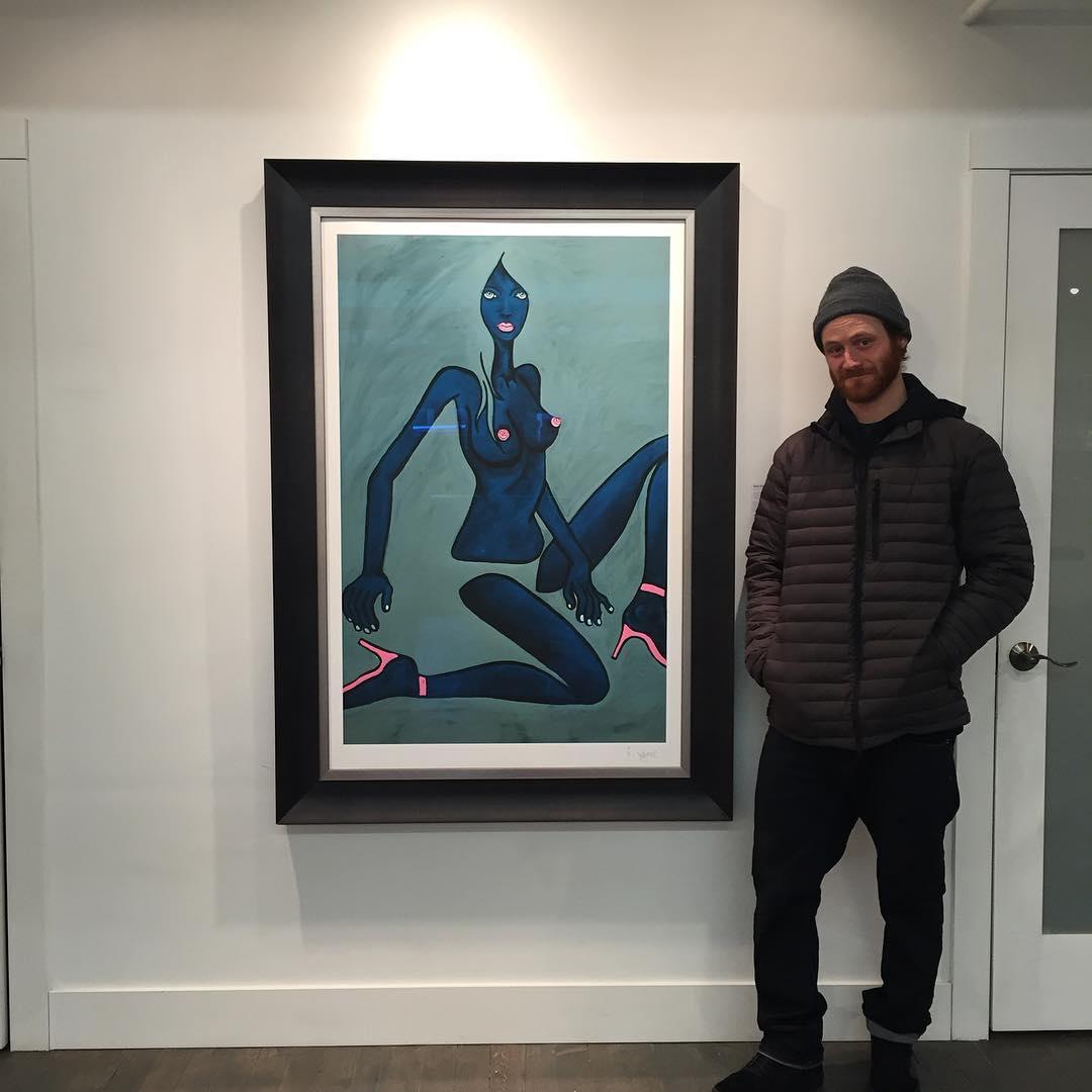 Buzzards dig art too, man. @patmoore @jamiemlynn #thebluegirl #asymbol
