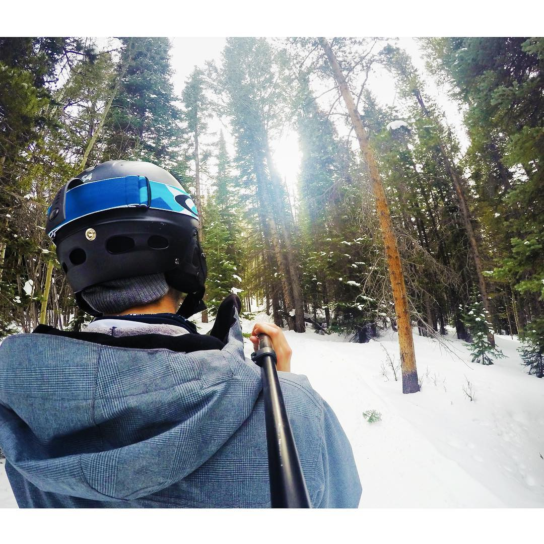 Tree routes through Aspen #aspen #gopro #goprohero4 #gnartastic #colorado #xgames #xgames2016 #xgamesaspen #snowmass #snowboard #snowboarding #ski #skiing #oakley #gopole #woods #nature #actionsports #extremesports #espn #graceflix