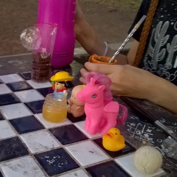 Merienda ajedrez.