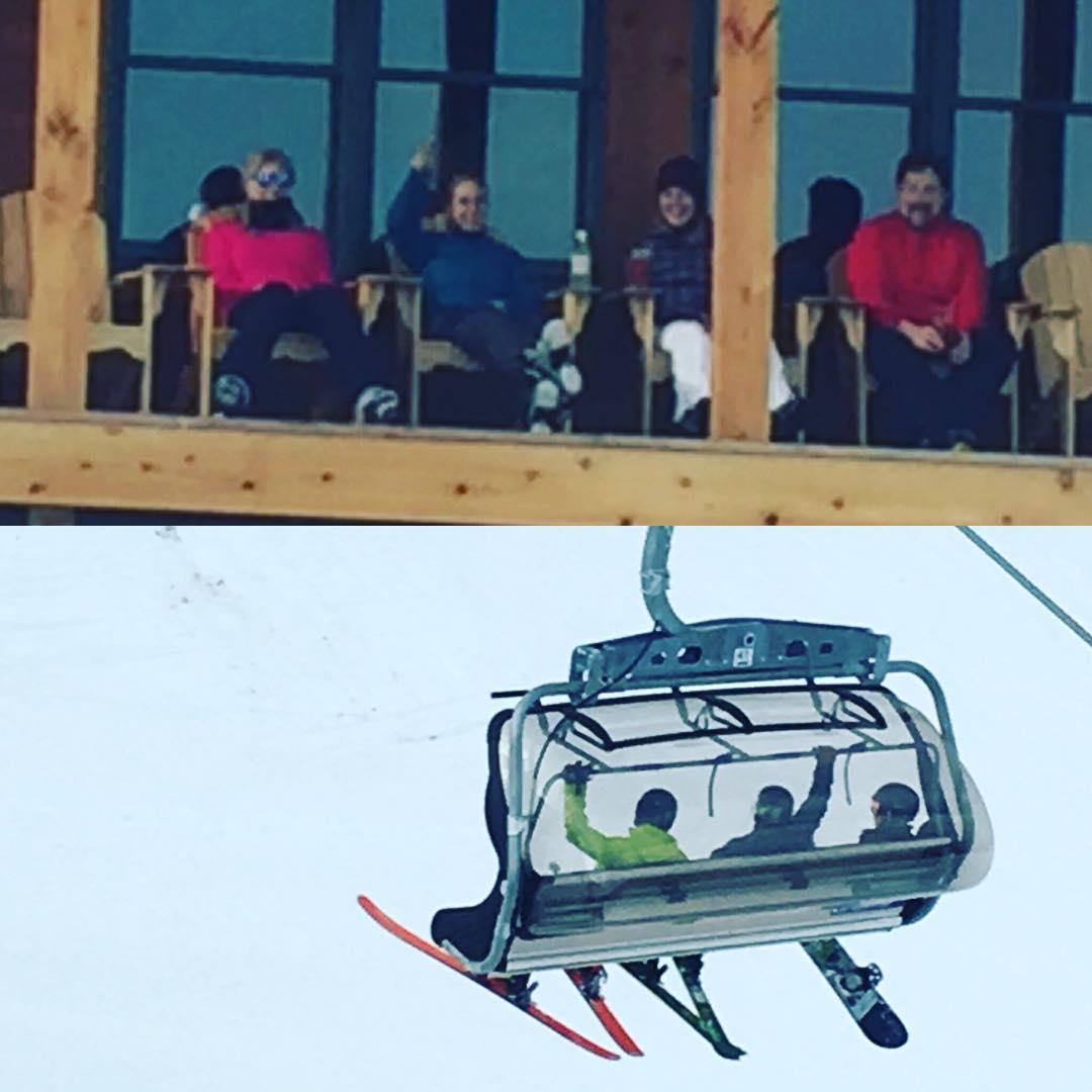 Kickin it at @hermitageclub with @drausch1976 @rauschallison @kateemcneil @nemesisphoto #skiing #snowboarding #justsendit #apres #WhoaBrah