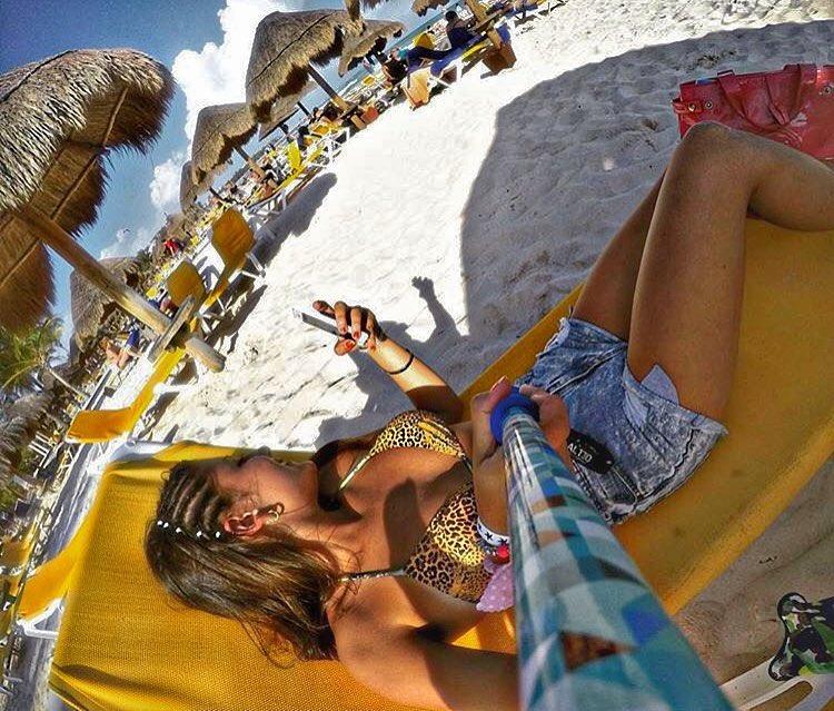 - Foton de nuestra amiga @aguscristofaro con su #TRAVELPOLE modelo #BAHAMAS en Cancun