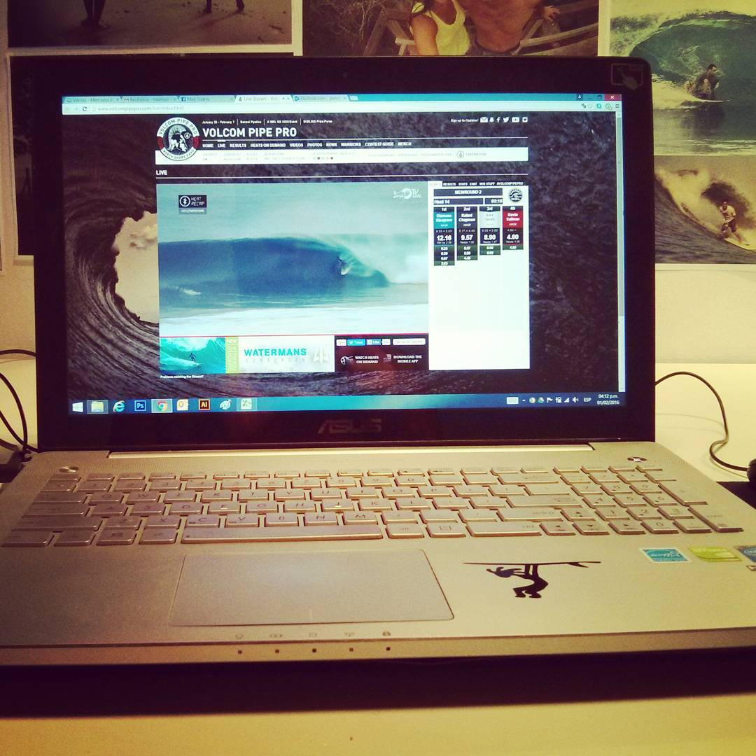 It's On! Volcom Pipe Pro online. #maetuanis #surf #surfing #volcom #Pipe #pipeline #pro