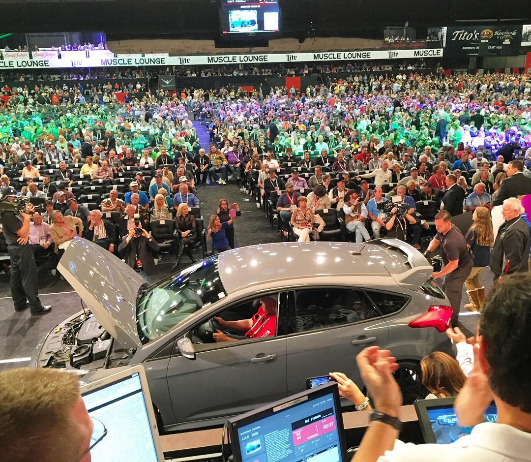 My view from the stage at the Barrett-Jackson Auction on Saturday, whilst this 2016 Ford Focus RS was being auctioned off to benefit the Juvenile Diabetes Research Foundation. I'm still buzzing from the experience - especially since we raised...