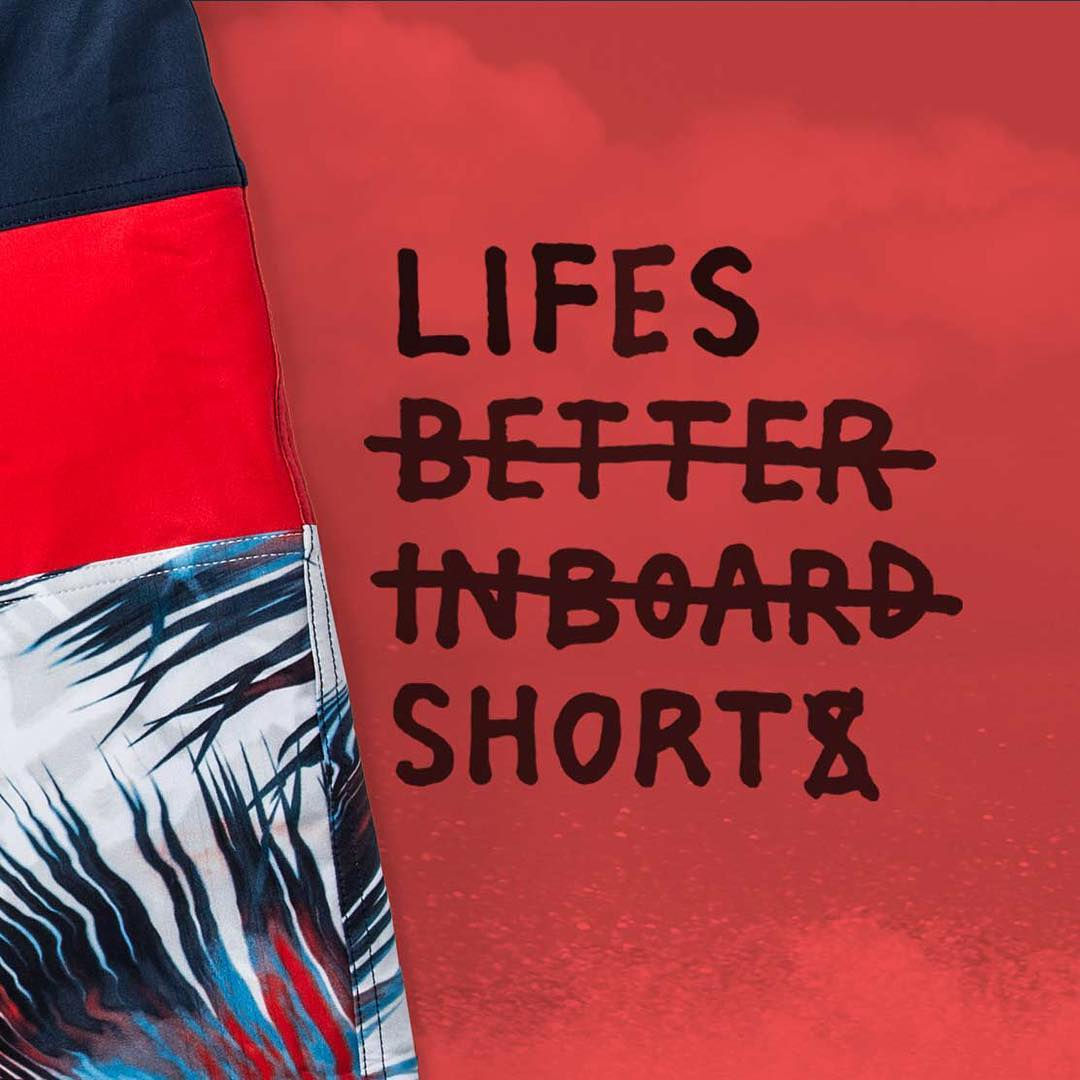 Surf Lighter, Dry faster #lifesbetterinboardshorts