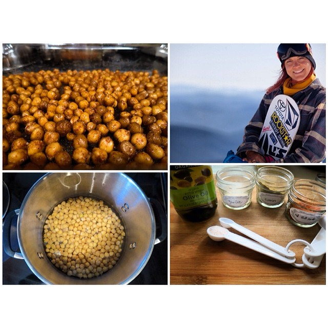TASTY TUESDAYS // Elena Hight's Spicy Chickpea Recipe Roasted chickpeas are the perfect little snack to satisfy a crunchy craving, and with an ample sources of fiber, protein, iron and antioxidants you're doing your body a good one!  Team B4BC...