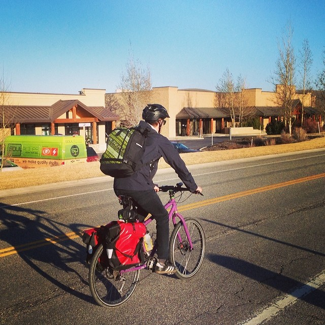 "#SoulAct 2: Ride your bike to work. ""A bicycle commuter who rides four miles to work, five days a week, avoids 2000 miles of driving and around 2000 pounds of CO2 emissions."" Source: @worldwatch  #ETKtribe member and Soul Poles Brand Manager,..."