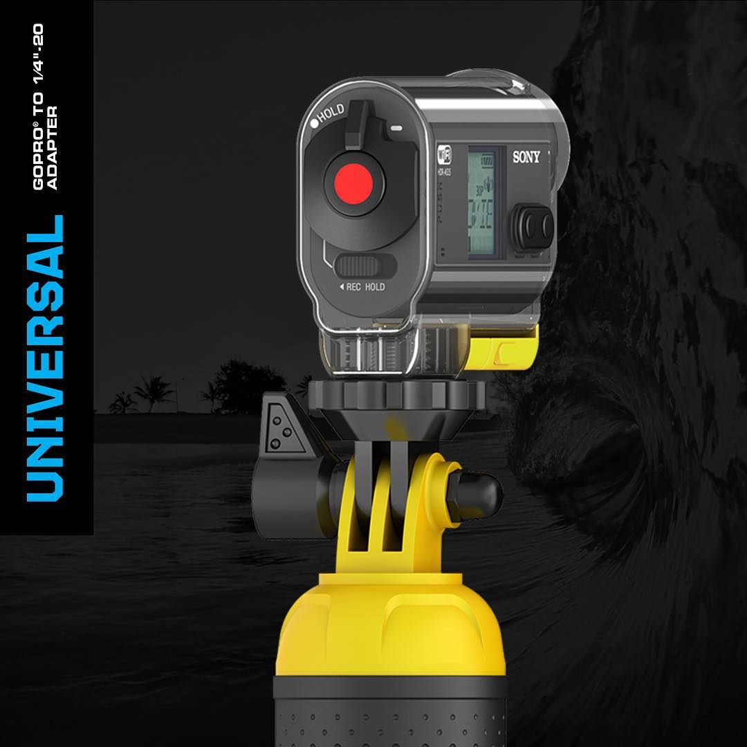 "Introducing: Universal Adapter - GoPro to ¼""-20 Adapter. Use any GoPro or GoPole mount with any camera featuring a ¼""-20 tripod connection. Compatible with all mounts that use the standard GoPro connection. #gopole"