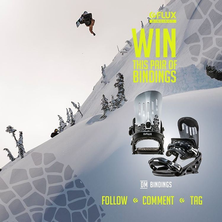 WIN FLUX! Flux Bindings is giving away a set of the DM Bindings! To Enter: Go to @fluxbindings and FOLLOW our gram feed, make a COMMENT on our WIN FLUX post and TAG three of your friends in your comment. The winner will be selected by Flux team rider...