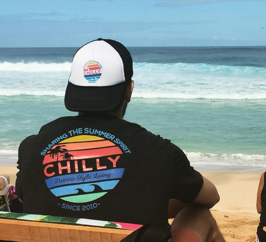 Hawaii disfrutando la presencia de @chillydesign !!
