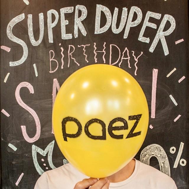 Happy #PaezBday !!! #WeCelebrate Durante el mes de Marzo 30% OFF en nuestros Paez Stores de Argentina. #Paezshoes #Argentina #Sale #Balloon #PaezStores