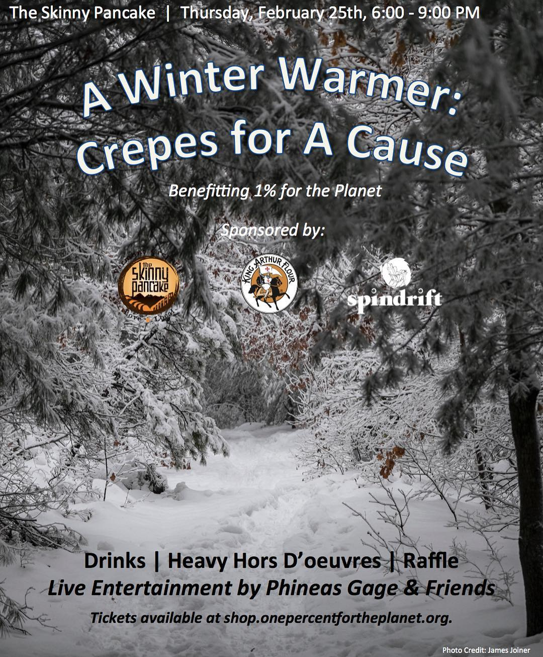 It's a Winter Warmer! Join @1percentftp on February 25th from 6-9 PM for a special evening of fun and entertainment at the @skinnypancake. The night will feature heavy hors d'oeuvres, a raffle, and live entertainment by Phineas Gage & Friends!  To...